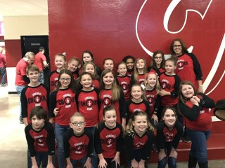 Choir Performs at IU Basketball